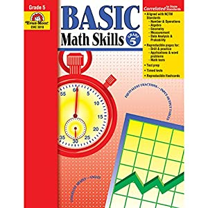 Evan-Moor EMC3018 Basic Math Skills Book, Grade 5
