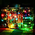 3 Pack Solar Mason Jar Lid Insert – Fairy LED Mason Solar Light with Glass -Festival Garden Wedding Party Decor Solar Lights – With Color Changing LED Dragon Flame
