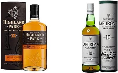 Highland Park - Whisky, 12 años, 700 ml + Laphroaig - Whisky Islay Single Malt, 10 años, 70 cl