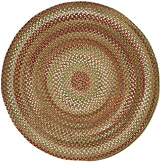 "product image for Manchester Sage Red Hues 15"" Chairpad Round Braided Rug"