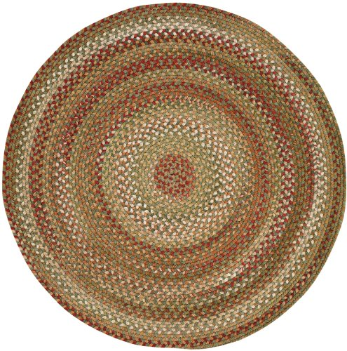 Capel Manchester 0048 Braided Rug - Sage Red Hues