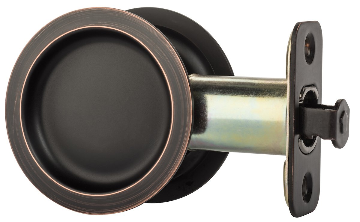 Dynasty Hardware Round Hall / Closet Passage Pocket Door Latch Aged Oil Rubbed Bronze