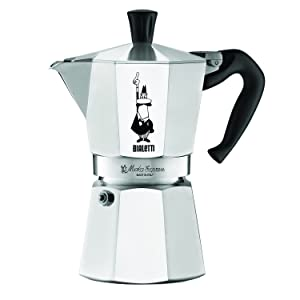The Original Bialetti Moka Express Made in Italy 6-Cup Stovetop Espresso Maker with Patented Valve