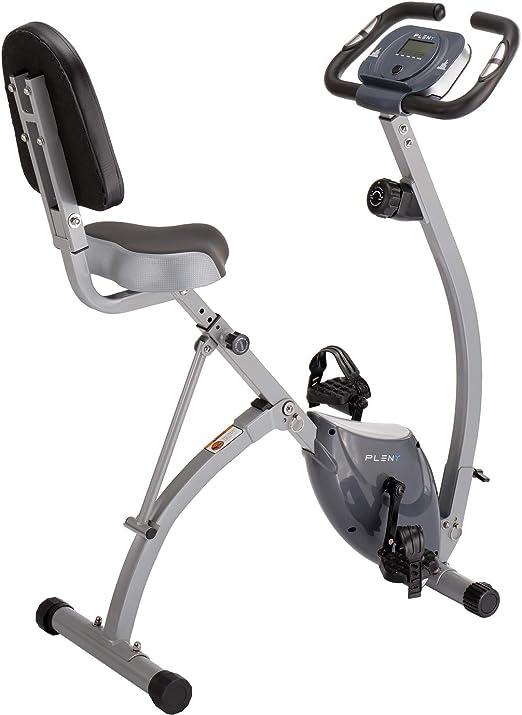 PLENY - Bicicleta de Ejercicio Plegable Semi reclinable con ...