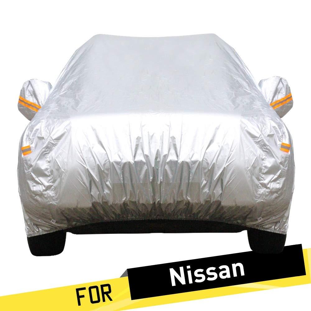 ERQINGCZ Wasserdichte Autoabdeckung Voller Auto-Abdeckungs-Selbstregen Sun-Schnee-Schutz-Abdeckung Für Nissan