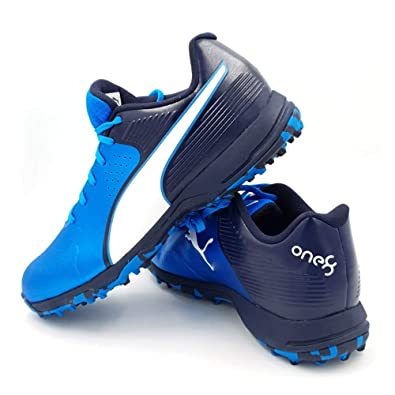 547a4efbc Puma Men Cricket 19 FH Rubber Blue Sports Shoes  Buy Online at Low Prices  in India - Amazon.in