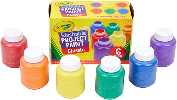Crayola Washable Kids Paint, Pack of 6,Crayola,54-1204,DSD656281