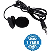 Drumstone Professional Mini Lavalier Lapel Microphone 3.5mm Omni directional Condenser Clip On Noice Cancelling Lav Mic- Black