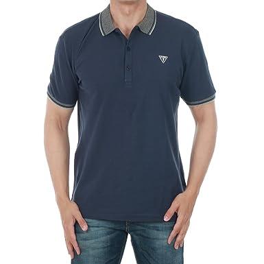 c8a922e9 Guess polo shirt Men XL Short Sleeve Navy blue F72I20QT002-U138:  Amazon.co.uk: Clothing