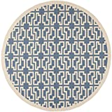 """Cheap Safavieh Courtyard Collection CY6015-243 Blue and Beige Indoor/Outdoor Round Area Rug (7'10"""" Diameter)"""