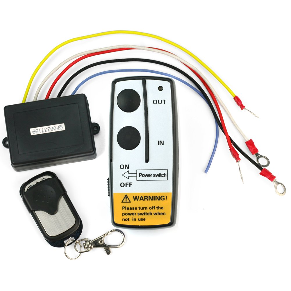 New 12V 12 Volt Wireless Remote Control Kit for Truck Jeep ATV Winch Warn Ramsey ReFaXi em00012-ca