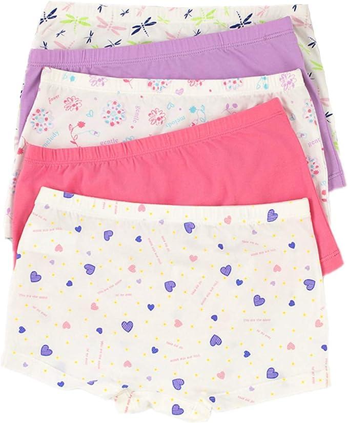 Cczmfeas Big Girls Underwear Cotton Boyshort Hipster Kids Briefs Panties 5 Pack
