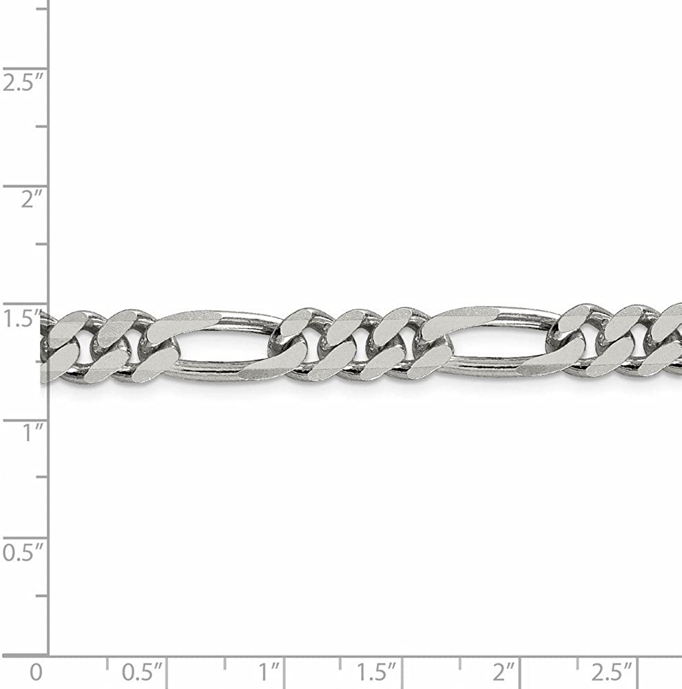 925 Sterling Silver 7.75mm Figaro Chain Necklace 16inch