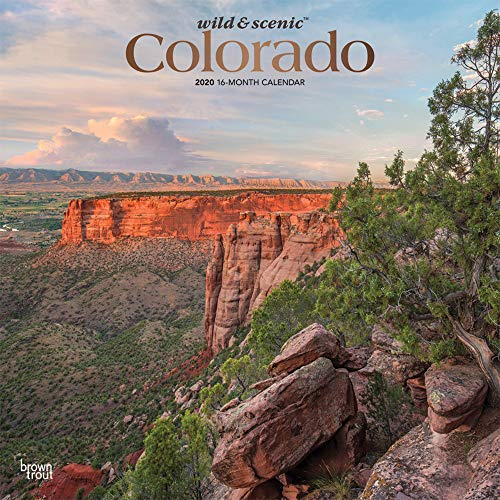(Colorado Wild & Scenic 2020 12 x 12 Inch Monthly Square Wall Calendar with Foil Stamped Cover, USA United States of America Rocky Mountain State Nature)