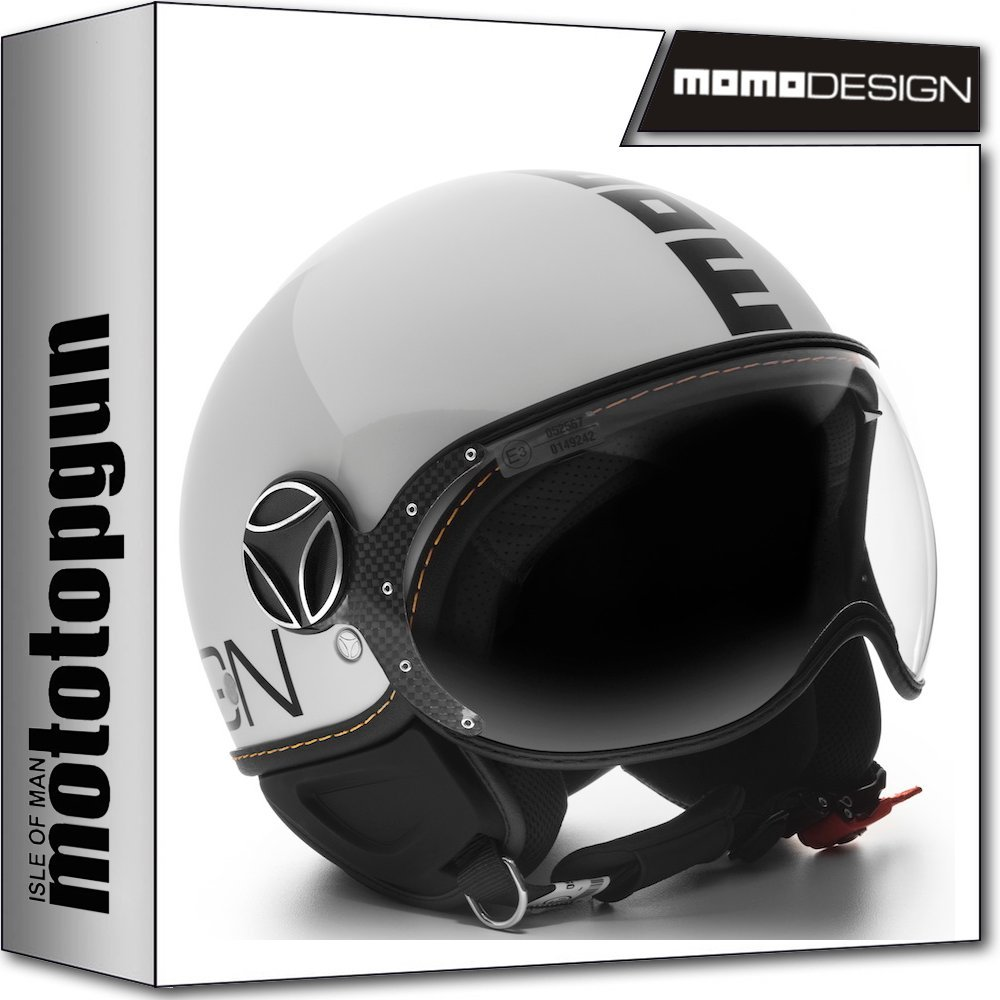 MOMO-DESIGN CASCO MOTO FIGHTER EVO BLANCO CUARZO POLISH NEGRO XL MOMODESIGN MOMODESIGN-8050762721721