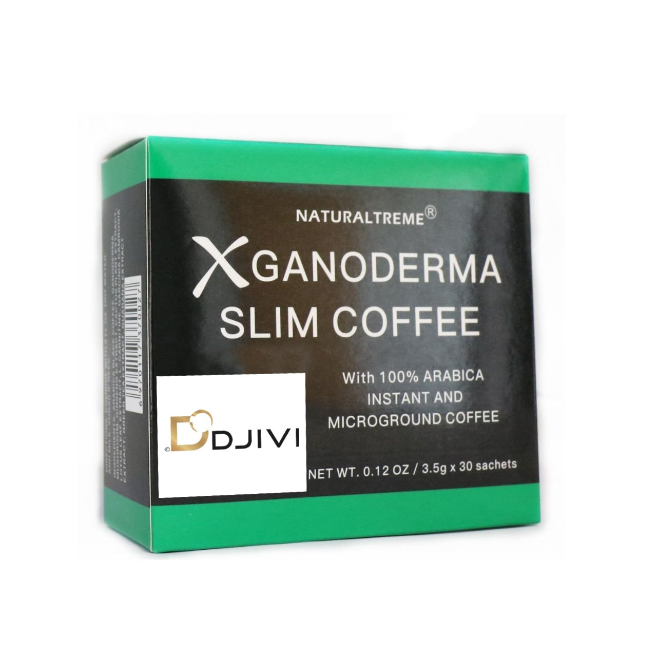 Dodjivi Ganoderma Slim Coffee Weight Loss & Detox 100% Arabica Black Premium Instant Coffee - (1 Box of 30 Sachets) TRTAZ11A