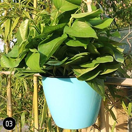 Maceta de plástico para colgar de ZHUOTOP, 11 cm, para flores y plantas, decoración para jardín, autorriego: Amazon.es: Hogar