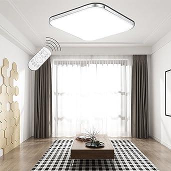 LED Panel Licht Dimmbar Deckenleuchte RGB Bunt verdeckte Deckenlampe Wohnzimmer