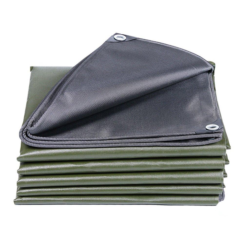 CHAOXIANG オーニング 厚い 折りたたみ可能 防水 耐高温性 耐寒性 耐摩耗性 耐食性 防塵の 軽量 キャンバス 緑、 600g/m 2、 厚さ 0.6mm、 16サイズ (色 : 緑, サイズ さいず : 4×8m) B07DBPHNMK 4×8m|緑 緑 4×8m