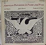 ED BEGLEY JULIE HARRIS FREDERICK O'NEAL AMERICAN POEMS OF PATRIOTISM vinyl record