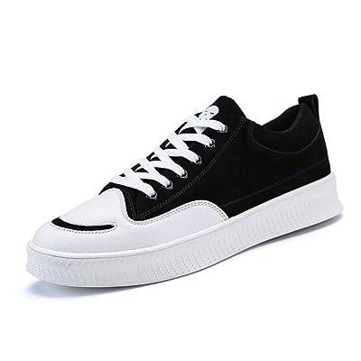 ZHONGST Hommes Printemps en Cuir Sports Chaussures Casual Mode Faible Basse Chaussures Tendance Chaussures