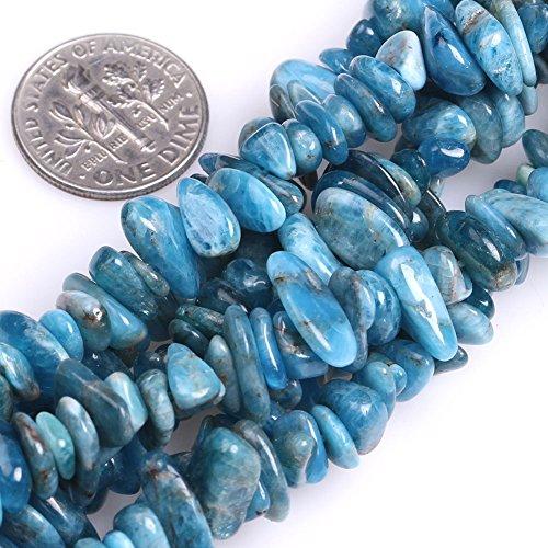 GEM-inside 7-8MM Gemstone Blue Opal Gravel Beads Strands 34 Inches - Opal Bead Sets