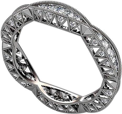 Gorgeous 925 Silver Women/'s Wedding Rings Round Cut White SapphireSize6-10