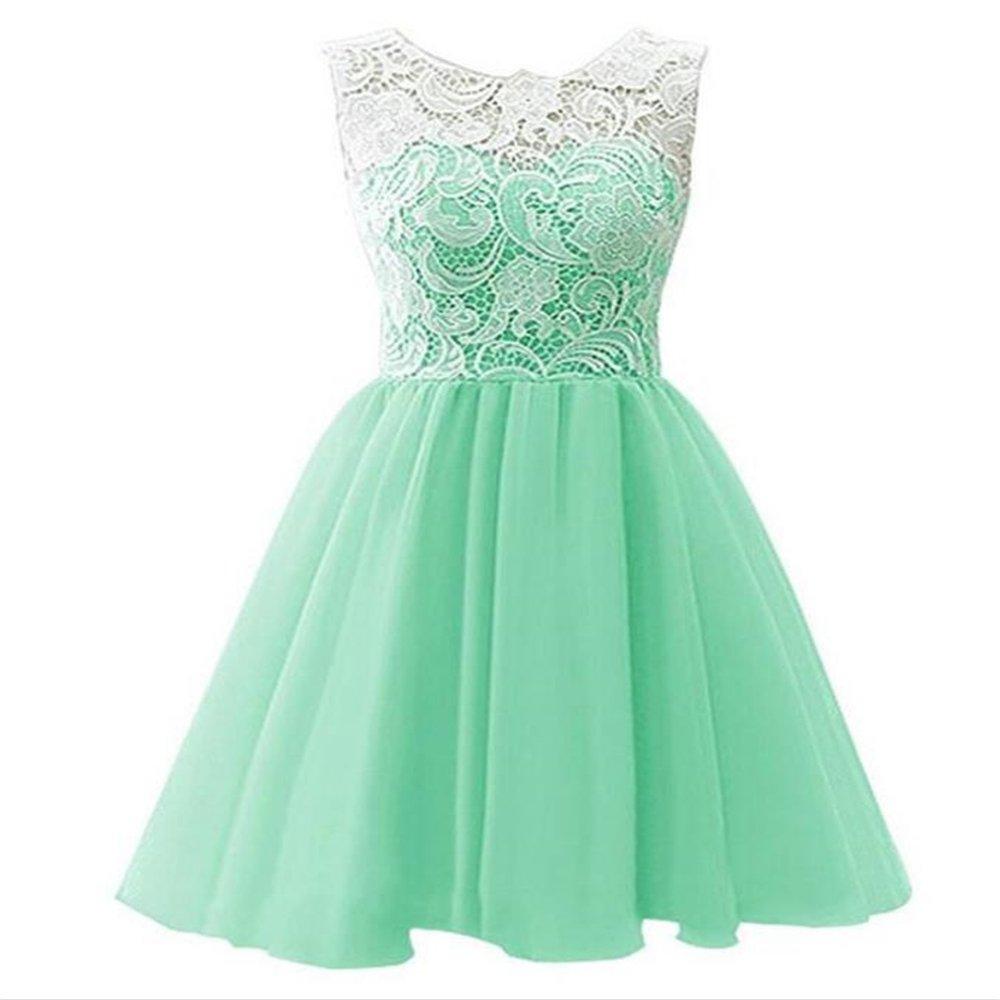 eleganceoo Girls Wedding Party Dress Pageant Princess Dresses(Light Green 130cm(5 Years))