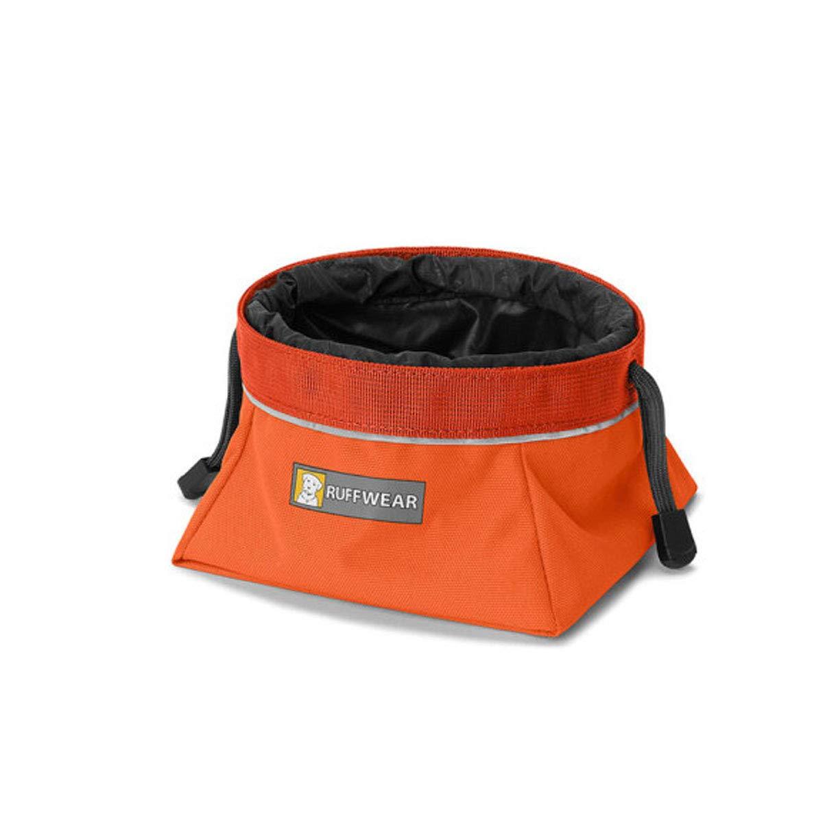 Eat Portable Folding Dog Bowl, Outdoor Basin, Dog Basin, orange (color   orange, Size   M)