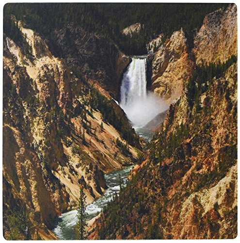 Lower Falls Yellowstone National Park (3dRose LLC 8 x 8 x 0.25 Inches Mouse Pad, Lower Falls Yellowstone National Park (mp_17296_1))