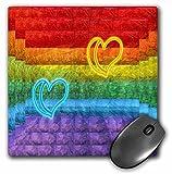 3dRose Spiritual Awakenings-Abstract - Rainbow Inspired Hearts and Abstract Art - Mousepad