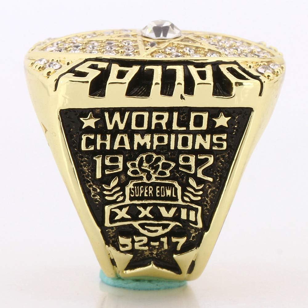 Mens Gold 1992 Dallas Cowboys Championship Ring in Titanium Steel