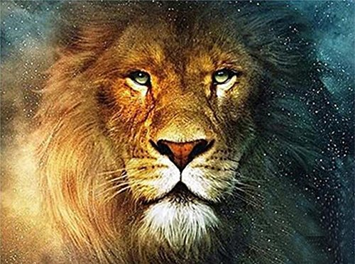 21secret 5D Diamond Mighty Lion Animal Handmade Diy Painting Cross Stitch Home Decor Embroidery Kit