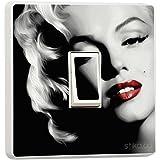 Marilyn Monroe Single Light Switch sticker cover Vinyl by stika.co