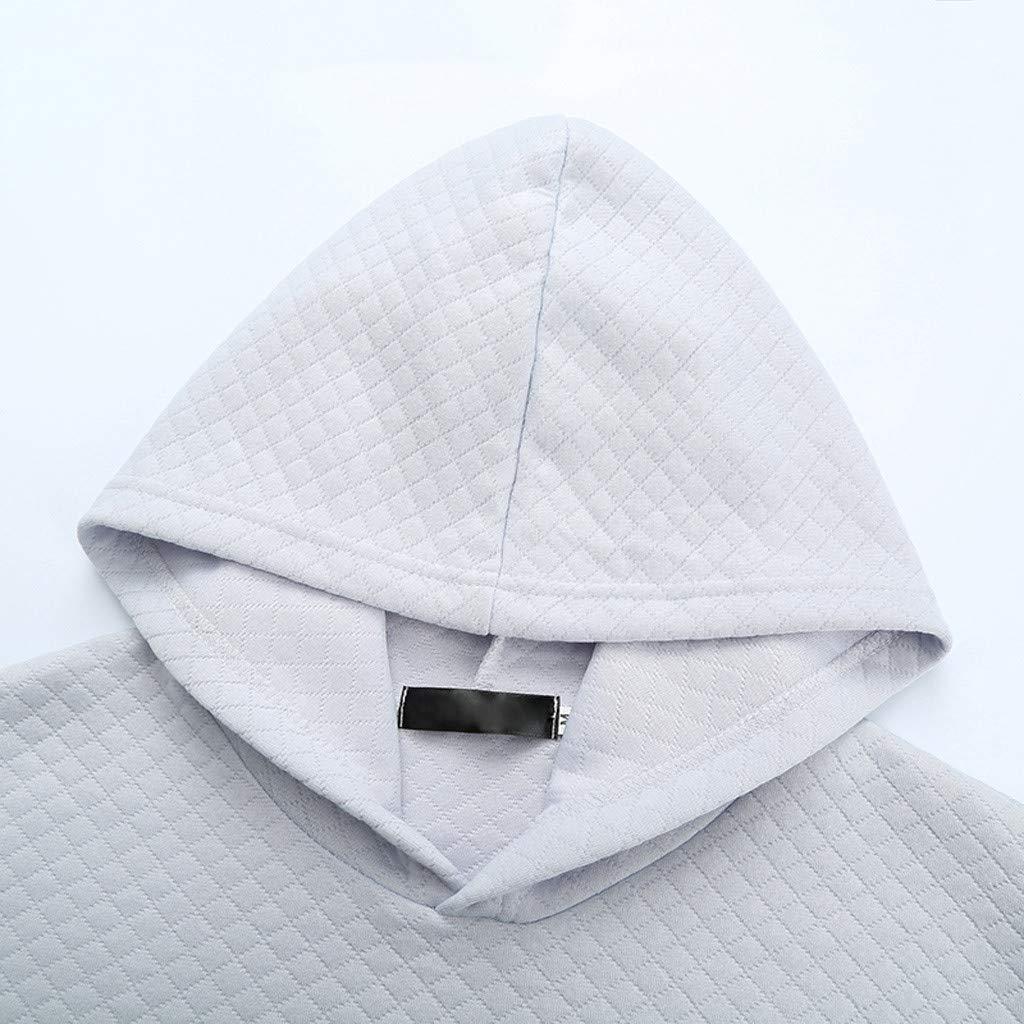 Men Summer Sweatshirt,Fineser New Mens Slim Fit Casual T Shirt Cotton Solid Hooded Short Sleeve Tee Shirt Tops M-2XL