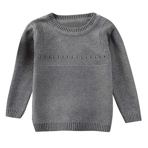 424f1297e Amazon.com  Kids Sweater Tops Binmer Boys Girls Solid Long Sleeves ...