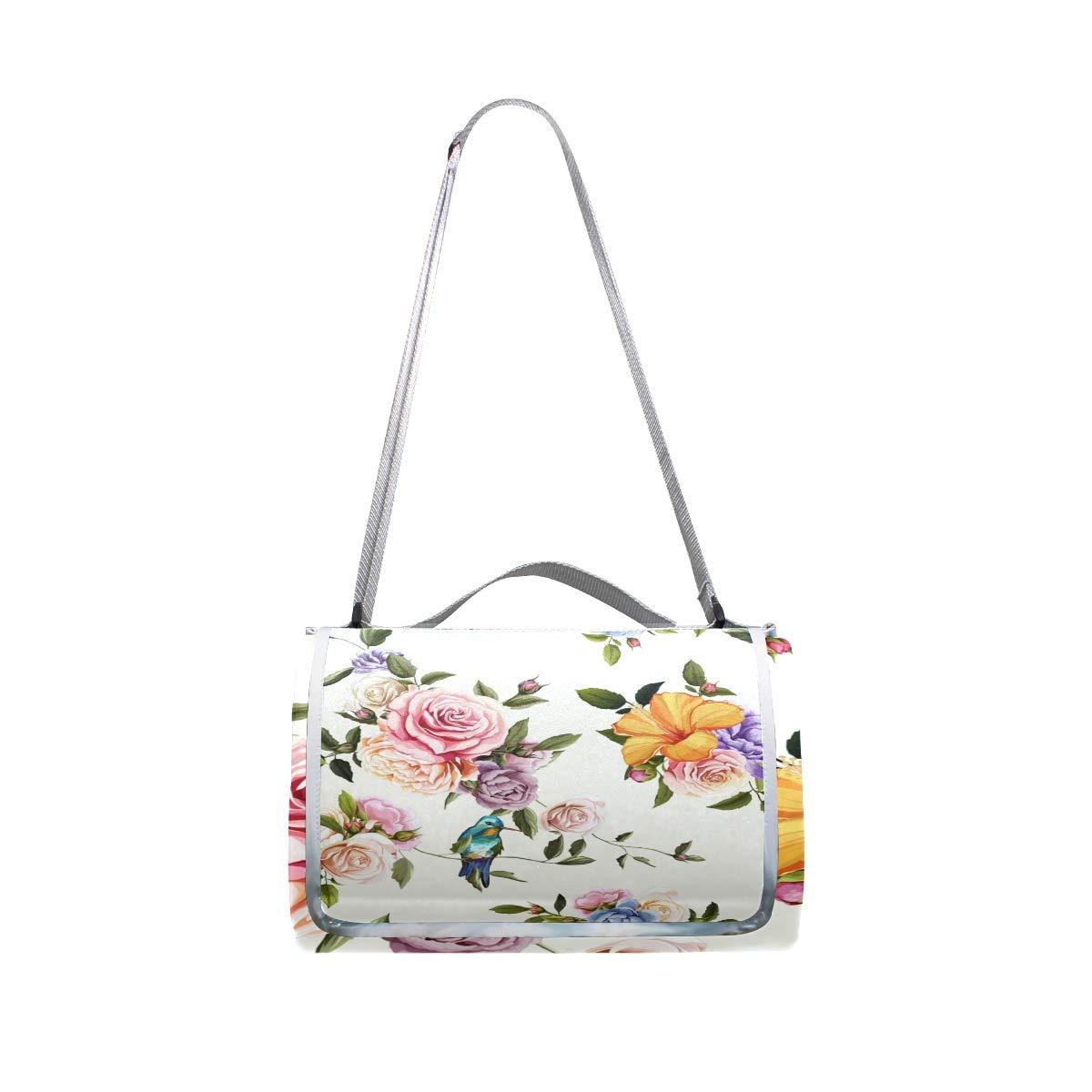 a88c9ddae ... para jeansame - - - Manta de Picnic Vintage con diseño de Rosas y  Flores, ...