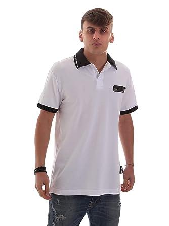 Versace Jeans B3GVB7P536571003 Polo Hombre Blanco M: Amazon.es ...