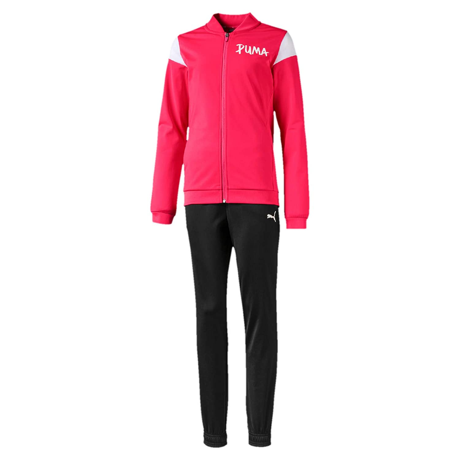 Puma Poly Suit G Kinder Track Suit Trainingsanzug Rosa