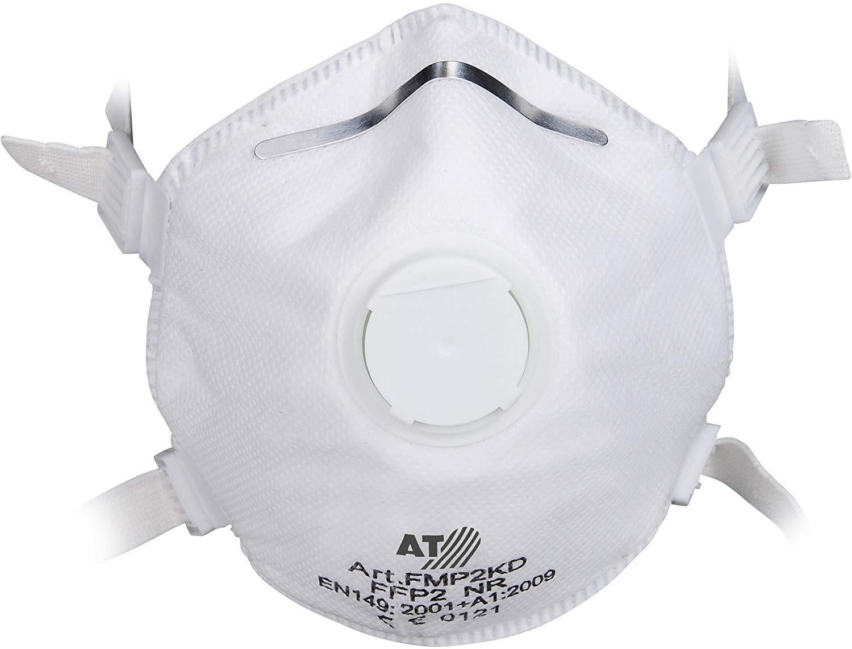 Asatex FFP2 Lot DE 10x Masques Anti-poussiè res jetables avec Valve Anti-dé poussié rage et lè vre d'é tanché ité