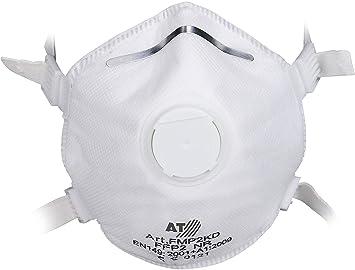 40e4e5a5508 Máscara de protección respiratoria con protección de la UE, FFP3, máscara  con Filtro de Polvo Fino Reutilizable, Blanco: Amazon.es: Bricolaje y  herramientas