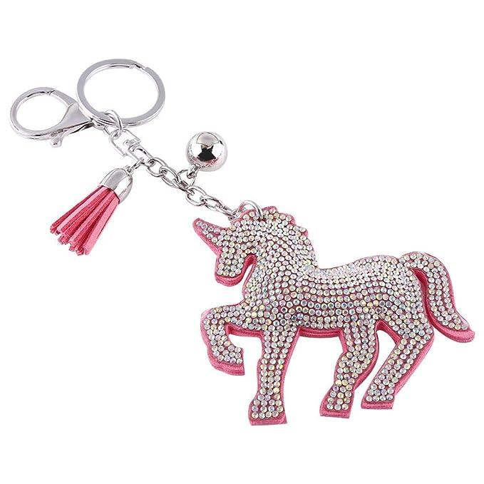 Amazon.com: walfront Unicornio Llavero buscador de llaves ...