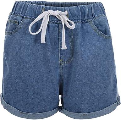 Pantalones Cortos de Mezclilla de Verano, algodón Jeans Mujer más ...