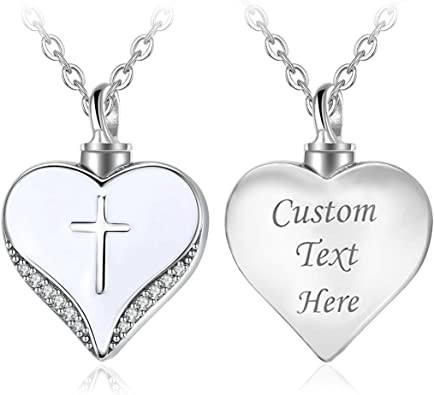 Custom Heart and Cross Sterling Silver Necklace