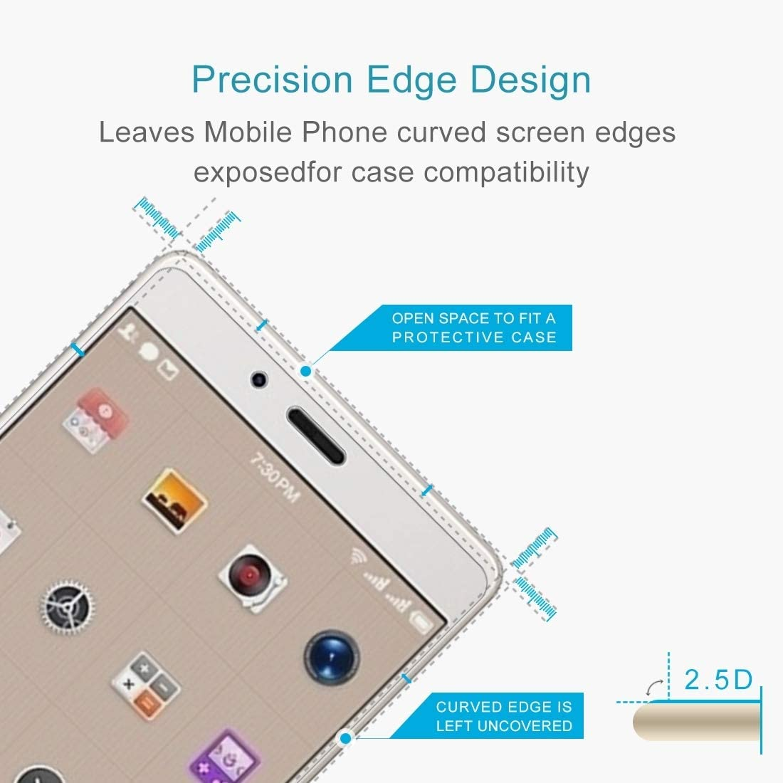 Wangl Mobile Phone Tempered Glass Film 50 PCS Smartisan Nut Pro 0.26mm 9H Surface Hardness 2.5D Curved Edge Tempered Glass Front Screen Protector Tempered Glass Film
