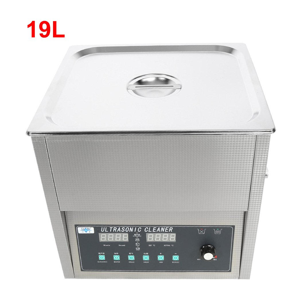 Jewelry Cleaner Machine,Professional Stainless Steel Watch and Eyeglass Cleaner Machine With Digital Timer for Home Use (19L 420W)