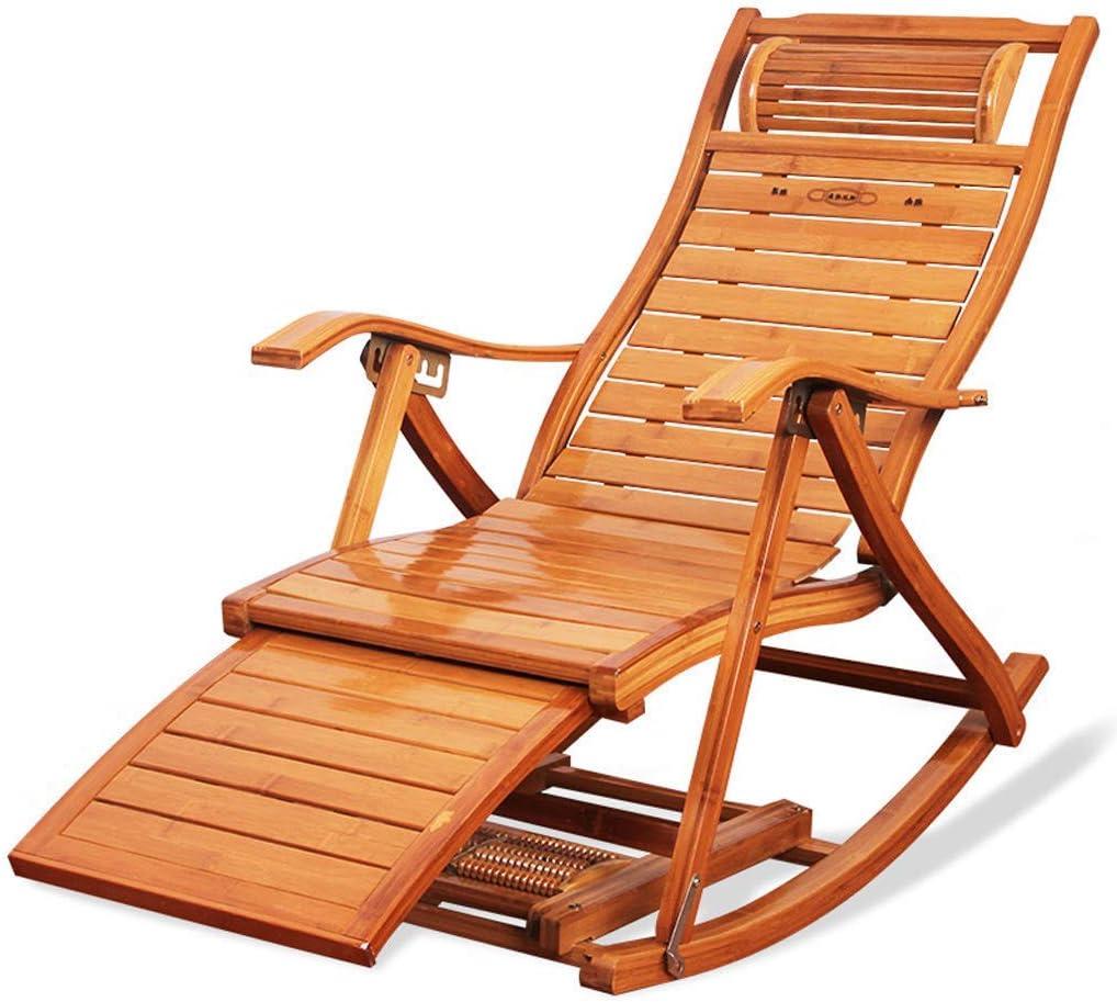 Tumbona Plegable Silla Mecedora Sillón Reposabrazos Respaldo Silla para Playa Jardín Sala de Estar Riverside Seaside Holiday Nap Reclinable