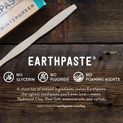 Redmond Earthpaste - Natural Non-Fluoride Toothpaste- Peppermint (2 pack- 2 x 4 Ounce Tube) by REDMOND (Image #5)'