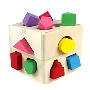 Amazon.com: Montessori 13 agujero caja de inteligencia para ...