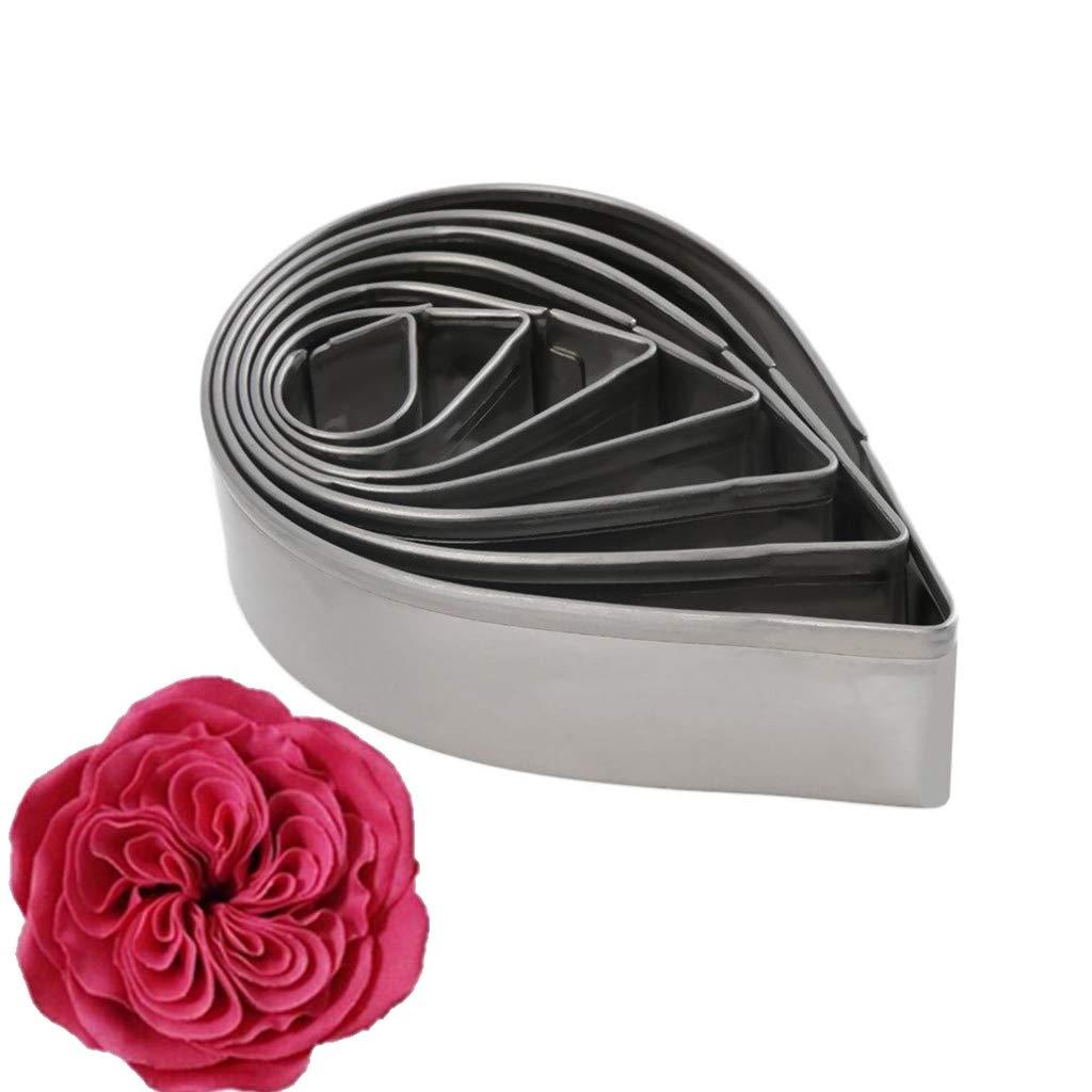 Tcplyn Premium Quality 7pcs Rose Petal Cake Mold Fondant Decorating Tools Sugarcraft Cookie Mould